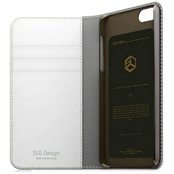 ROAロアiPhoneSE(第1世代)4インチ/5s/5用レザーケースEditionCalfSkinLeatherDiaryホワイトSLGDesignSD7658i5se+液晶保護フィルムポケット付