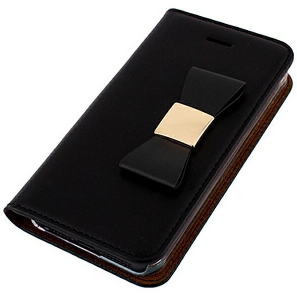 ROAロアiPhoneSE(第1世代)4インチ/5s/5用RibbonClassicDiaryブラックLAYBLOCKLB7561i5seポケット付