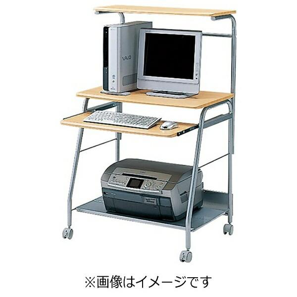 サンワサプライSANWASUPPLYパソコンデスク(W750mm×D528mm・木目)HLN-75N[HLN75N]【メーカー直送・代金引換不可・時間指定・返品不可】