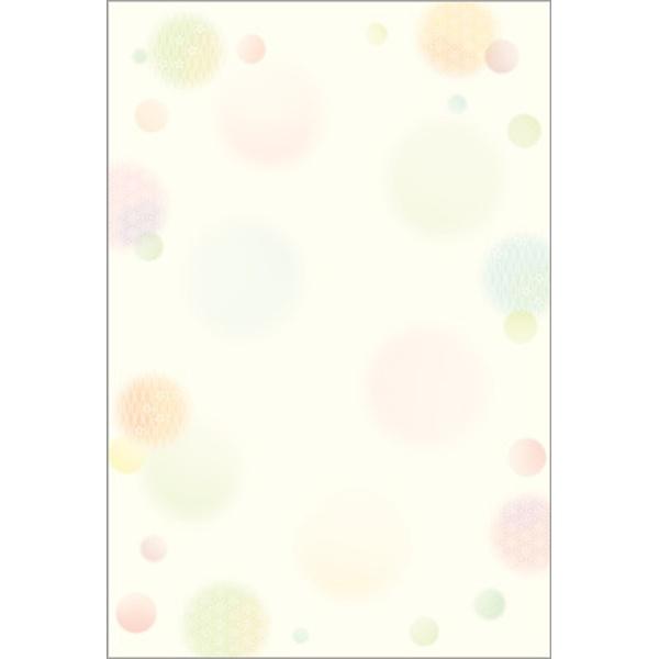 ササガワSASAGAWA4-1127和柄用紙和ごころ水玉ハガキサイズ/20[41127]