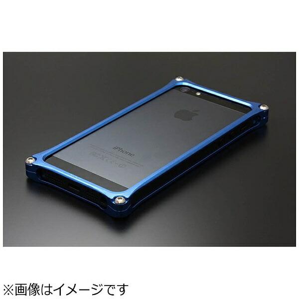 GILDdesignギルドデザインiPhoneSE(第1世代)4インチ/5s/5用ソリッドバンパーブルー41736GI-262BLストラップホール付