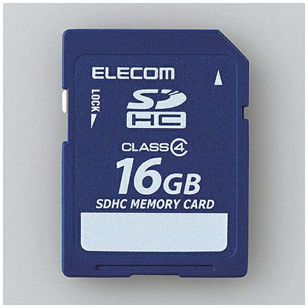 エレコムELECOMSDHCカードMF-FSDC4RシリーズMF-FSD016GC4R[16GB/Class4][MFFSD016GC4R]