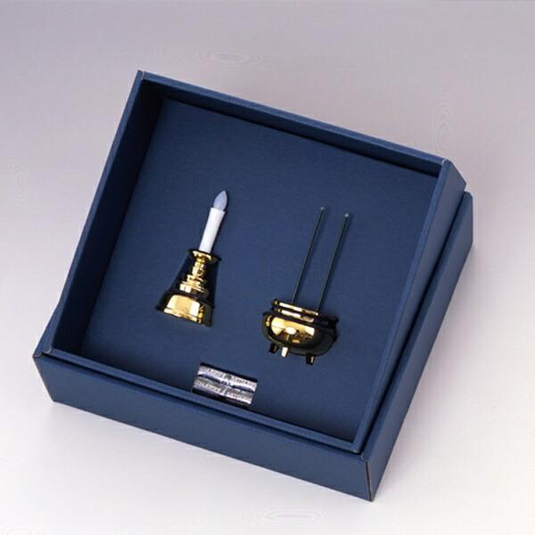 スマイルキッズ安心のろうそくお線香セット(各1個)ゴールドAGI101GD[AGI101GD]