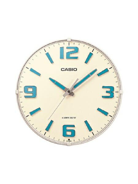カシオCASIO掛け時計【waveceptor(ウェーブセプター)】ホワイトIQ1009J7JF[電波自動受信機能有]