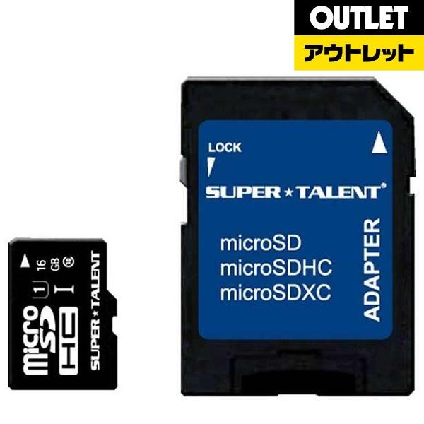 SUPERTALENTスーパータレント【アウトレット品】microSDHCカードPremiumシリーズST16MSU1P[16GB/Class10]【数量限定品】ST16MSU1P【kk9n0d18p】