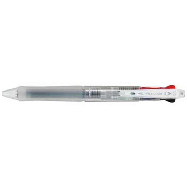 パイロットPILOT[油性ボールペン]アクロボール3極細ノンカラー(ボール径:0.5mm、インキ色:黒・赤・青)BKAB-40EF-NC
