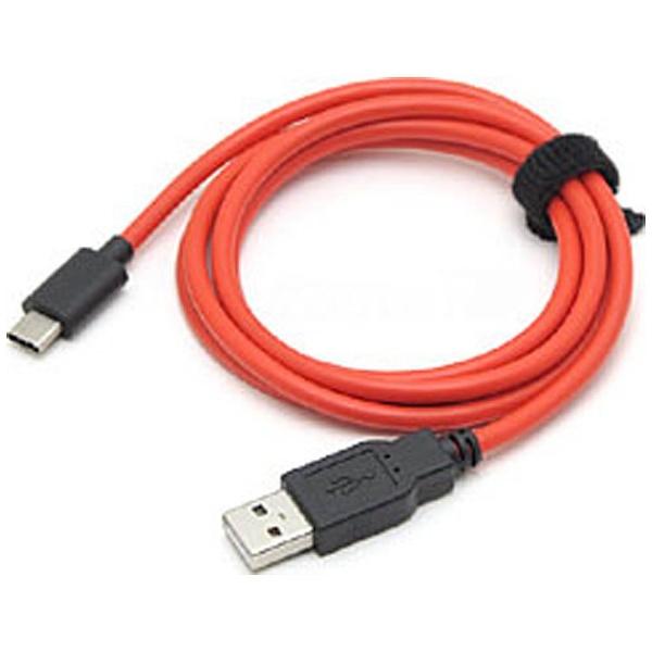 ルートアールRouteR1.2m[USB-C⇔USB-A]2.0ケーブル充電・転送レッドRC-HCAC12R[RCHCAC12R]