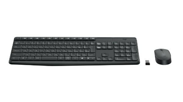 ロジクールワイヤレスキーボード[2.4GHzUSB・Win/Chrome]&マウスWirelessCombo(108キー・ブラック)MK235