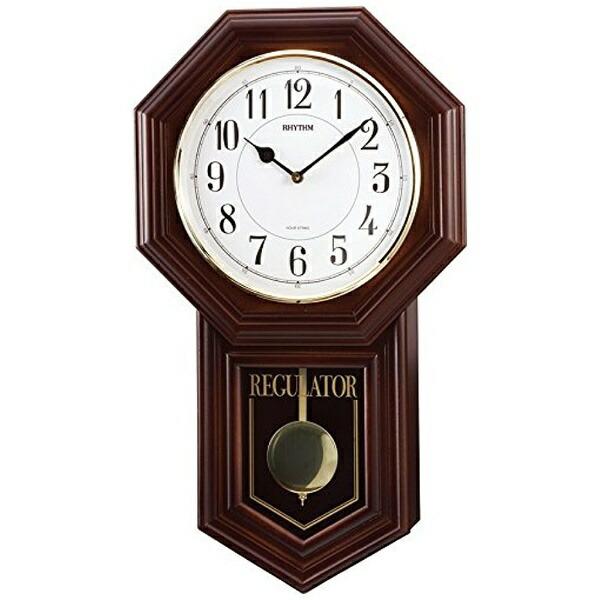 リズム時計RHYTHMからくり時計ベングラーR茶色半艶仕上4MJA03RH06