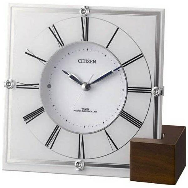 リズム時計RHYTHM置き時計【マリアージュ707】白4RY707-003[電波自動受信機能有]