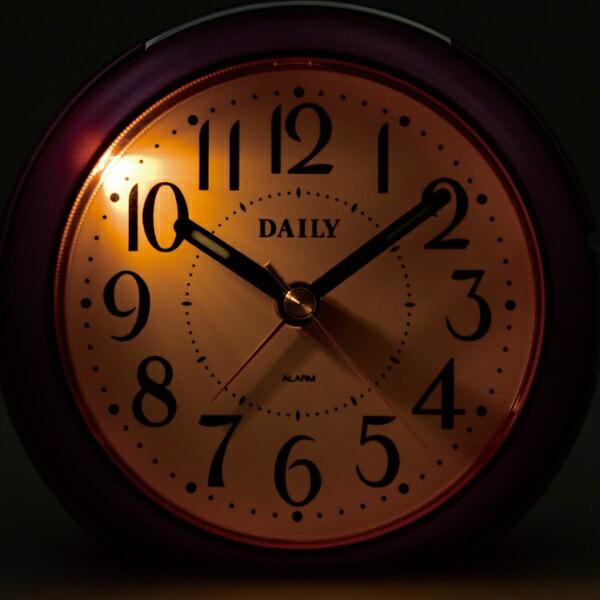 リズム時計RHYTHM目覚まし時計デイリー(DAILY)RA21DNピンクメタリック色(白)8REA21DN13[アナログ]