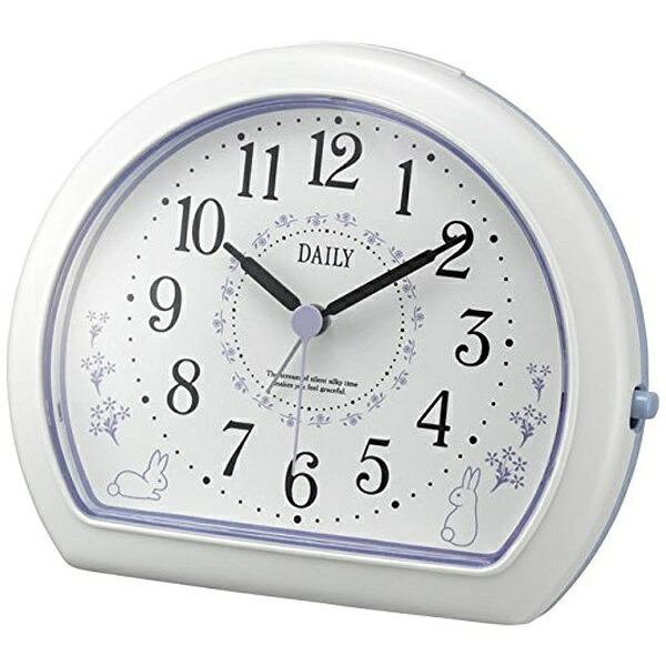 リズム時計RHYTHM目覚まし時計デイリー(DAILY)R550白(紫)4SE550DN12[アナログ]