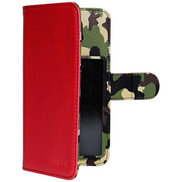 OWLTECHオウルテックスマートフォン用[幅74mm/5.2インチ]マルチサイズ対応裏地迷彩柄手帳型ケースレッドOWL-CVMU05CA-RD