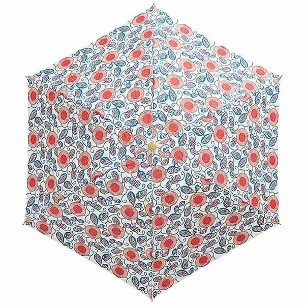 ウォーターフロントWaterfront【折りたたみ傘】レディース折傘紅型花柄三つ折BNGH-3F50-UH(UV加工)50cm【色指定不可】