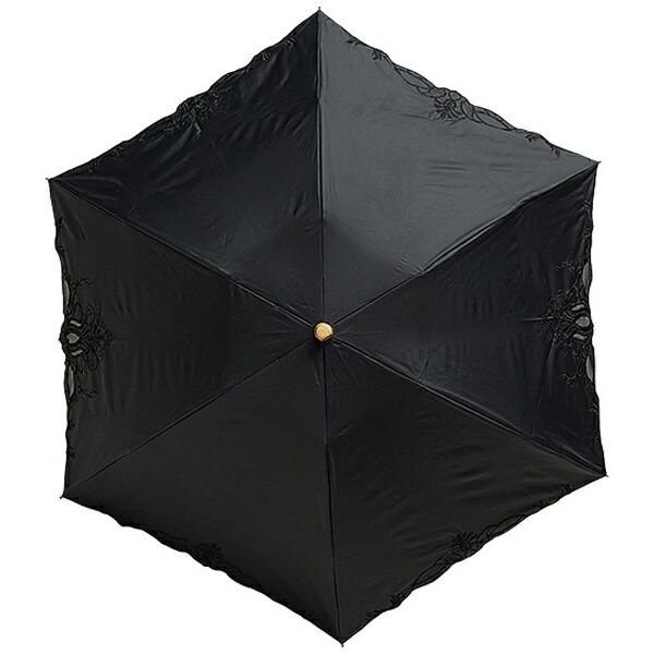 ウォーターフロントWaterfront【折りたたみ傘】レディース晴雨兼用折傘エンブロ晴兼折竹手元EBTK-3F50-SH(UV加工)50cm【色指定不可】