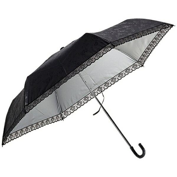 ウォーターフロントWaterfront【折りたたみ傘】レディース晴雨兼用折傘エンボス柄裏シルバー三つ折EB-3F50-SH(UV加工)50cm【色指定不可】