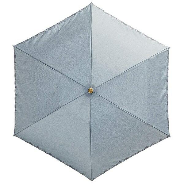 ウォーターフロントWaterfront【折りたたみ傘】レディース晴雨兼用折傘リネン刺繍晴兼折LS-3F50-SH(UV加工)50cm