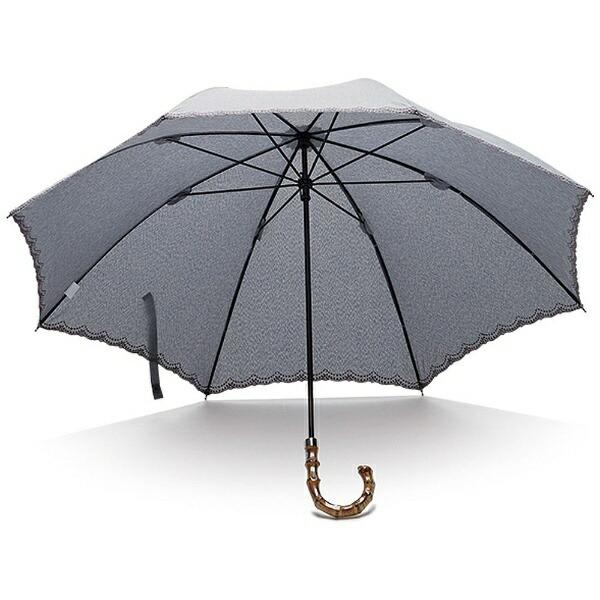 ウォーターフロントWaterfront【傘】レディース晴雨兼用長傘リネン刺繍晴兼長LS-1S50-SH(UV加工)50cm
