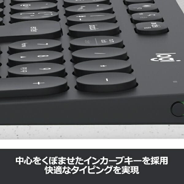 ロジクールLogicool【スマホ/タブレット対応】ワイヤレスキーボード[Android/iOS/Mac/Win/Chrome]マルチデバイス(101キー・ブラック/ホワイト)K780[Bluetooth/ワイヤレス][K780]
