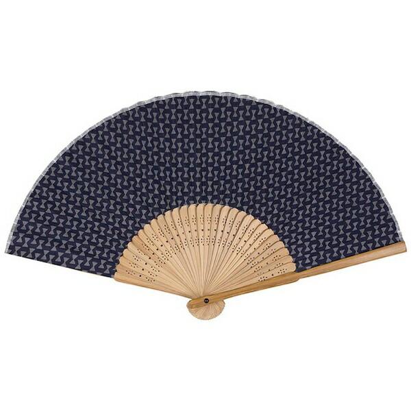 サクラクレパスSAKURACOLORPRODUCT[扇子]綿製さくら扇子藍色(モダン鼓)QS-131#43