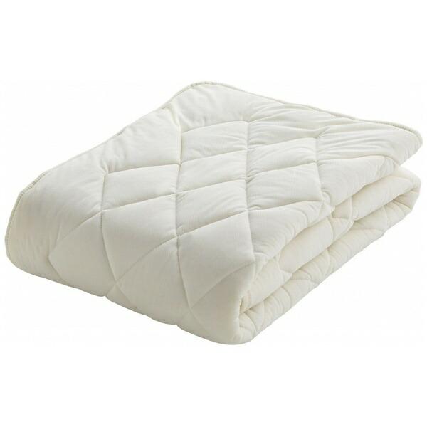 フランスベッドFRANCEBED【ベッドパッド】クランフォレスト羊毛ベッドパッド(セミダブルサイズ/122×195cm/キナリ)フランスベッド