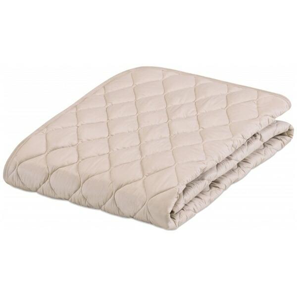 フランスベッドFRANCEBED【ベッドパッド】グッドスリーププラス羊毛パッド(ダブルロングサイズ/140×205cm/ベージュ)フランスベッド[生産完了品在庫限り]