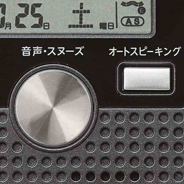 セイコーSEIKO目覚まし時計【ポケットトーク】黒メタリックDA208K[デジタル/電波自動受信機能有]