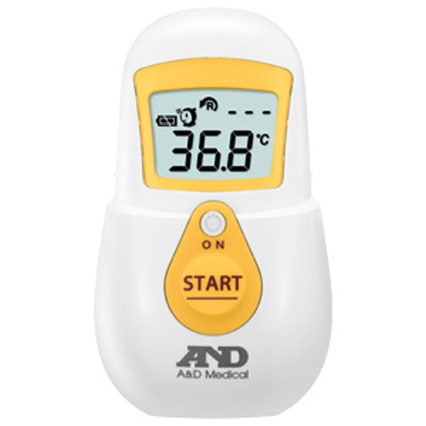 A&Dエー・アンド・デイ赤外線体温計でこピッと(デコピット)イエローUTR-701A[UTR701AY]