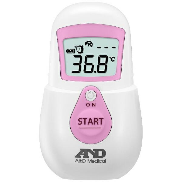 A&Dエー・アンド・デイ赤外線体温計でこピッと(デコピット)ピンクUTR-701A[UTR701AP]【rb_pcp】