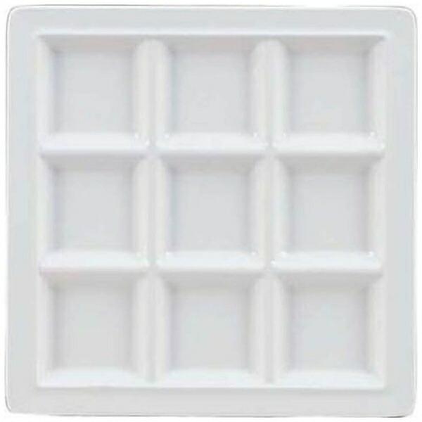 関東プラスチック工業KantohPlasticIndustryメラミンスクエアプレート9仕切皿M-2350ホワイト<RSK5202>[RSK5202]