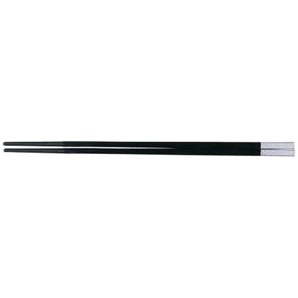 福井クラフトPBT和洋中角箸シルバー(10膳入)黒85915560<TTY3602>[TTY3602]