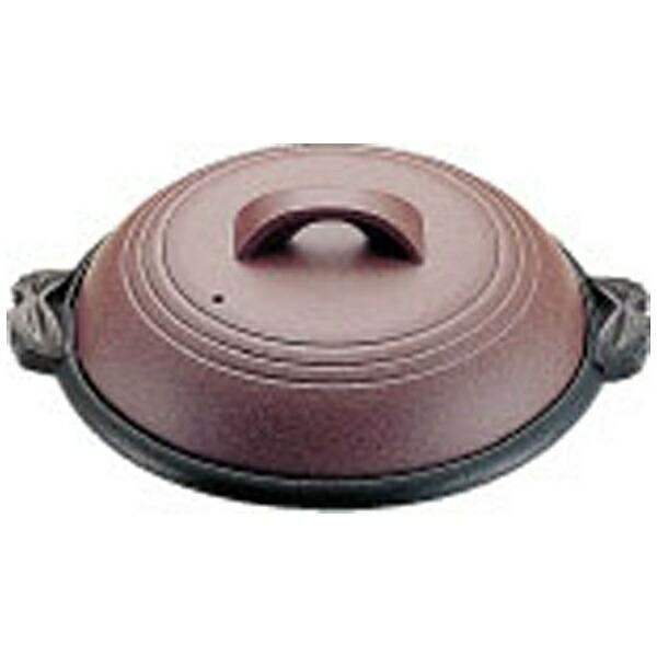 マインMIN《IH非対応》アルミ陶板鍋素焼き茶横綱42cmM10-541<QTU18541>[QTU18541]