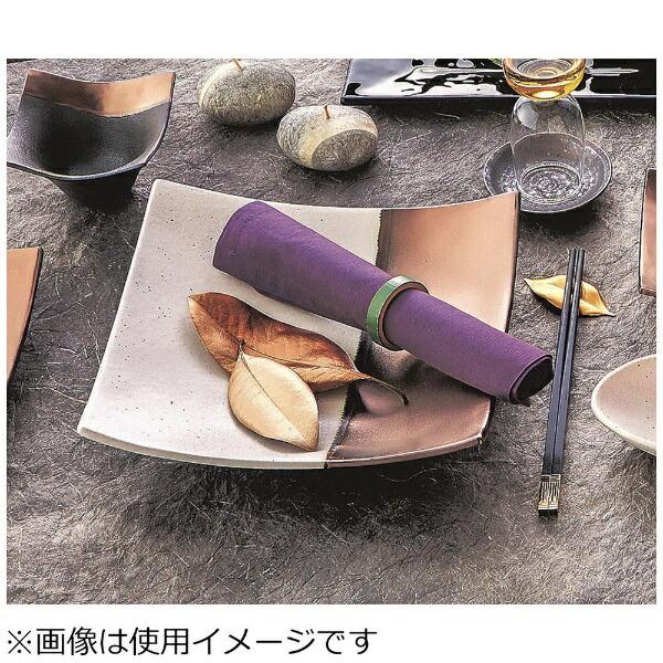 ミヤザキ食器MIYAZAKI奏スクエアプレートゴールドホワイト21cm<RSU0601>[RSU0601]
