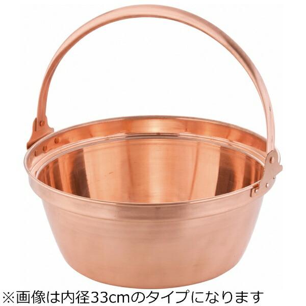 丸新銅器marusindouki《IH非対応》銅山菜鍋(内側錫引きなし)27cm<ASV01027>[ASV01027]