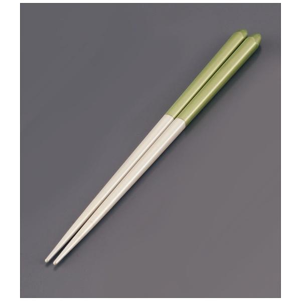 リック木製ブライダル箸(5膳入)パールホワイト/グリーン<RHSR904>[RHSR904]
