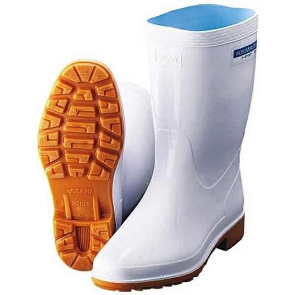 アサヒシューズASAHISHOESアサヒ抗菌長靴クリーンセーフ300ホワイト23.5cm<SNG3703>[SNG3703]