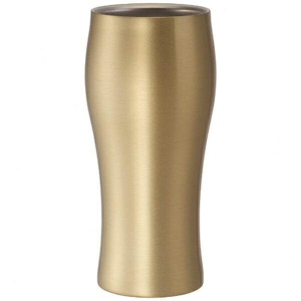 ドウシシャDOSHISHAタンブラー「飲みごろビールタンブラー」(420ml)DSB420GDゴールド[DSB420GD]