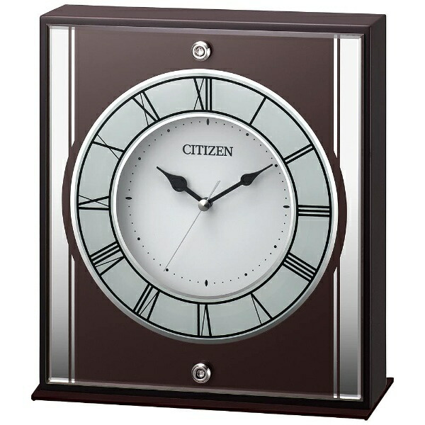 リズム時計RHYTHM置き時計茶色半艶仕上8RG622-006