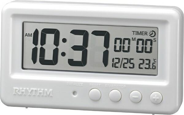 リズム時計RHYTHMバスクロックアクアプルーフ白8RDA72SR03[デジタル]