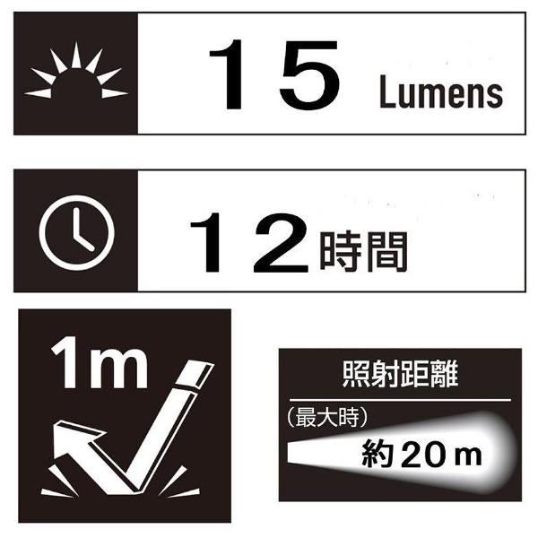 ジェントスGENTOS懐中電灯KEYLIGHTGK-001S[LED/単4乾電池×1/防水][GK001S]