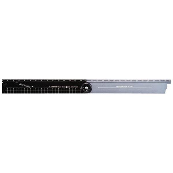クツワKUTSUWA[定規]折りたたみアルミ定規(最長30cm)ブラックXS31BK