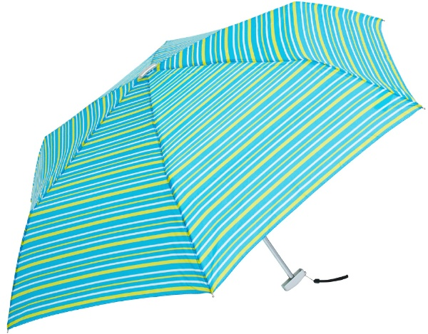 ウォーターフロントWaterfront折りたたみ傘POKEFLAT(ポケフラット)ボーダーGKBD-3F50-UH[雨傘/50cm/色・柄指定不可]