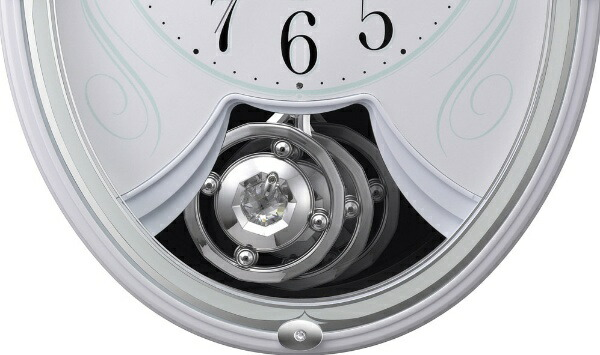 リズム時計RHYTHM掛け時計【スモールワールドリリィ】白4MN528RH03[電波自動受信機能有]