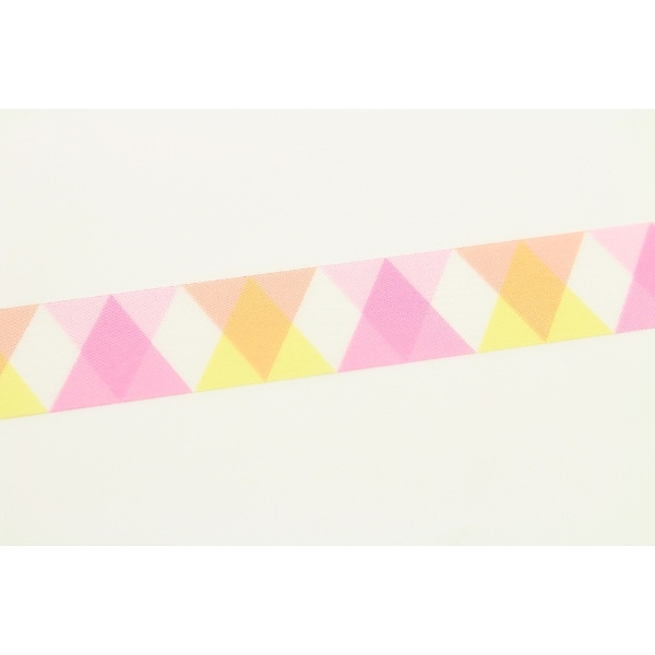カモ井加工紙KAMOImt1P三角とダイヤ・ピンクMT01D335