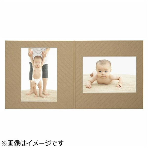 チクマChikuma写真台紙「フォトブティック」(6切2面/クラフト)06332-2[フォトブティック62クラフト]