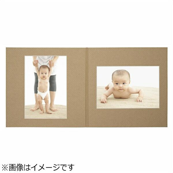 チクマChikuma写真台紙「フォトブティック」(L判2面/クラフト)06328-5[フォトブティックL2クラフト]
