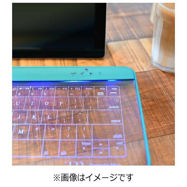 UPQアップ・キュー【スマホ/タブレット対応】ワイヤレス/有線キーボード[Bluetooth3.0・USBAndroid/iOS/Win]Q-gadgetKB02(ネイビー・アンド・レッド)KB02/NR[QGADGETKB02]