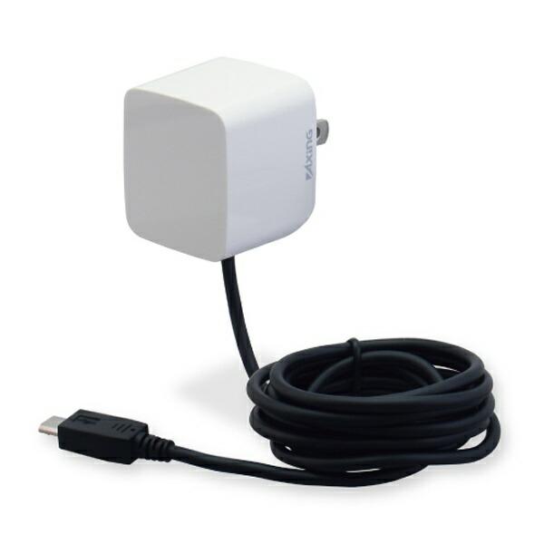 多摩電子工業TamaElectric[microUSB]ケーブル一体型AC充電器2.1A(1.5m・ホワイト)TA53SW