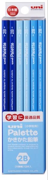 三菱鉛筆MITSUBISHIPENCIL[鉛筆]ユニパレットパステルブルー(硬度:2B)1ダースK55602B