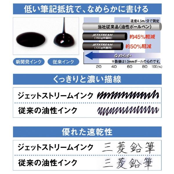 三菱鉛筆MITSUBISHIPENCIL[油性ボールペン]ジェットストリーム4色ボールペン透明ブラック(ボール径:0.7mm、インク色:黒・赤・青・緑)SXE450007T.24